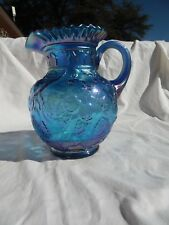 Fenton The Museum Collection Blue Pitcher W.C. FENTON SIGNED