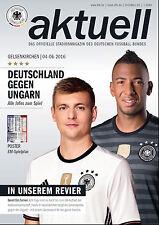 Länderspiel 04.06.2016 Deutschland - Ungarn in Gelsenkirchen + EURO 2016 Poster