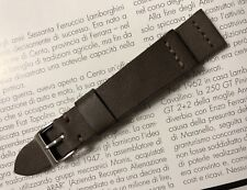 20mm handmade watch strap genuine leather lug size Dark Liver vintage style