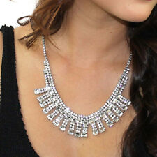 Kristin Perry Rhinestone Crystal Art Deco Fringe Necklace