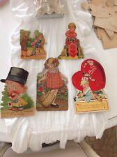 Vintage Mechanical Valentines day Cards Girl man