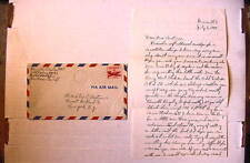 WWII Air Mail COVER US Navy 10499 Brigade July 17, 1949 w/ LETTER! ++ FINE
