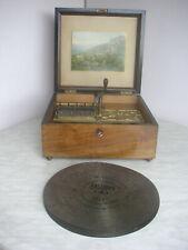"Sehr schöne Kalliope 33,6cm Platten Polyphon Symphonion music box 13 1/4"" disc"