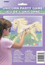 Unicorn Party Fun Games Stick The Horn On The Unicorn With Blindfold Favour Game