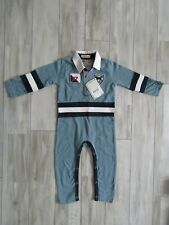 Hatley Infant Boy's Blue Labs Rugby Romper Size 18-24 Months NWT