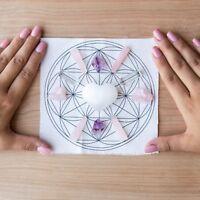 Love and Connection Crystal Grid - Amethyst, Rose Quartz, Selenite, Clear Quartz
