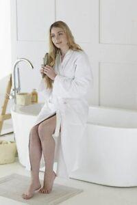 LUXURY UNISEX 100% COTTON RICH VENICE WAFFLE KIMONO BATH ROBES DRESSING GOWN