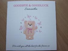 Personalised Handmade Goodbye, Leaving Job or School, Moving, Retirement Card