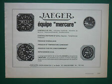 1972-73 PUB JAEGER AERONAUTIQUE ALTIMETRE INDICATEUR DASSAULT MERCURE FRENCH AD