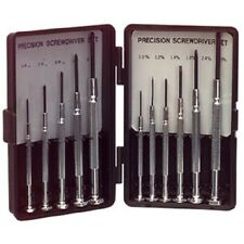 11 Piece Precision Small Screwdriver Set - 5 x Phillips + 6 x Normal Flat Blade