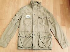 JOULES HOLBROOK Mens Stone Tartan Lined Military Style Jacket @ Size M Coat