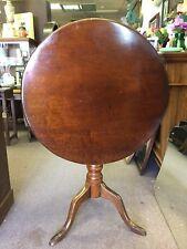 Antique English Mahogany Tilt Top Table