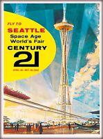 1962 Seattle Washington World's Fair United States Travel Advertisement Poster 7