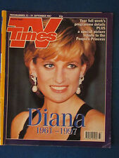 TV Times Magazine 13-19/9/97 - Princess Diana Cover & Article