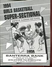 High School Basketball Program Illinois 1994 Tournament Girls AA