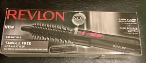 REVLON Tangle Free Hot Air Styler Drying Styling Curling Black Ladies NEW