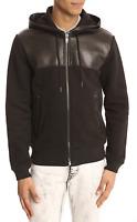 MARC BY MARC JACOBS Black Lamb Leather Sweatshirt Zip Up Jacket Men's Small 🔥