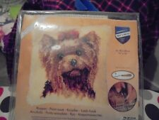 Yorkshire Terrier Latch Hook Cushion Front Kit by Vervaco 40x40cm Rug Canvas