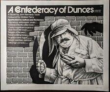 1980 A CONFEDERACY OF DUNCES Original Vintage Promotional Poster ED LINDLOF Rare