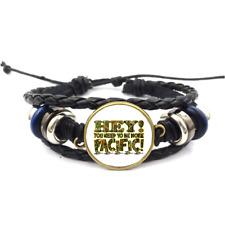 Be More Pacific Glass Cabochon Bracelet Braided Leather Strap Bracelets