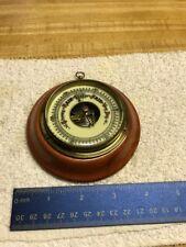 Vintage Round Wood Barometer Western Germany