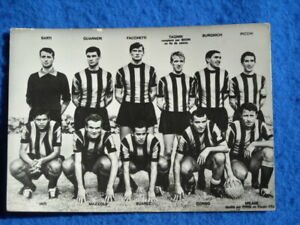 Old Inter team Football Internazionale Bulgarian small size Photo Postcard