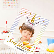 1set Unicorn Photo Booth Props Frame Kids Photobooth Props Birthday Party Decor*