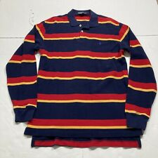 Polo Ralph Lauren Rugby Long Sleeve Shirt Vintage 90's Color Block Striped M