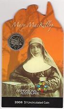 "2008 $1 INSPIRATIONAL AUSTRALIAN ""Mary MacKillop"" COIN & CARD"
