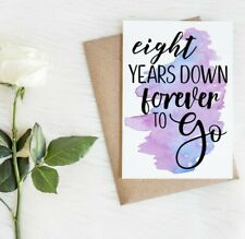 8th Anniversary Card | Eighth Anniversary Card | 8 year anniversary card