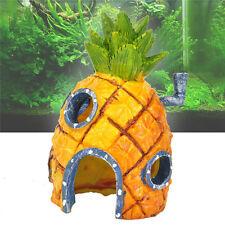Fish Aquarium Tank Decoration Antique Polyresin Pineapple House for Sponge Bob