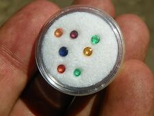 Precious stone suite of rounds, natural, 1+ Ct.  T.W.