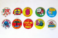 """Lot of 10 Vintage 1.625"""" Pinback Buttons - Made In Hong Kong - Funny - Humerous"""