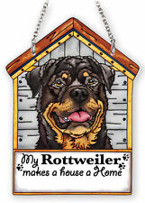 "My Rottweiler Sun Catcher Makes House A Home Dog House AMIA Brown 7"" High Brown"