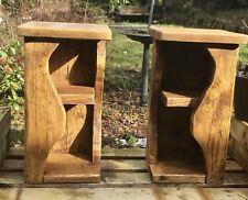 Reclaimed Wood Bedside Units / Side Tables - Unique Design - Made to Order