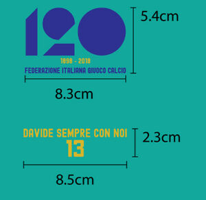 Italy FIGC 120 years anniversary + DAVIDE ASTORI 13 Italy Away match details