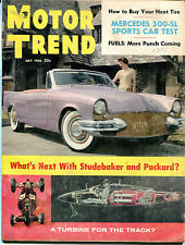 Motor Trend Magazine July 1956 Mercedes 300-SL Studebaker VGEX 122115jhe