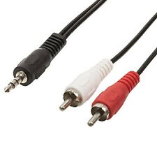 3.5mm Jack to 2 x RCA Phono Headphone Audio Cable lead Adapter UK seller