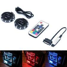 Magnetic RGB LED Strip Lights For PC Computer Case 2Pcs 12 Sata Powered Full Kit