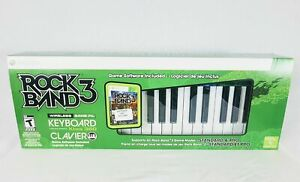 NEW, XBOX 360 Rock Band 3 Wireless Keyboard - Game not included