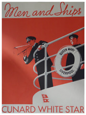 Queen Mary Men and Ships - Cunard White Star 12 x 16