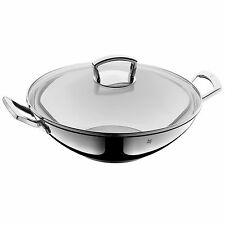 wmf stainless steel wok with glass lid