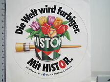Aufkleber Sticker Histor Lacke - Sigma Coatings Holland - Lack - Farbe  (M1256)