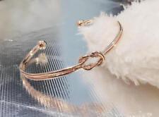 Rose Gold Knot Bracelet Adjustable Bridesmaid Love Knot Double BR14K