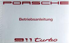 Porsche  911 Turbo Typ 964 Betriebsanleitung Bedienungsanleitung