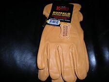 NEW buffalo unlined drivers heavyweight work gloves sz large