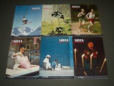 1960 LEICA FOTOGRAFIE INTERNATIONAL MAGAZINE LOT OF 6 - COMPLETE YEAR - R 2K