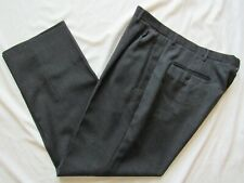 Vtg Button Fly Wool Dress Pants Pleated Front 50s Hollywood VLV 34.5x29 Old
