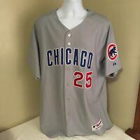 Majestic Chicago Cubs Baseball Jersey Size 52 Derek Lee #25 Sewn Stitched FS USA