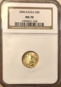 2006  $5 Gold American Eagle NGC MS70- FREE SHIPPING